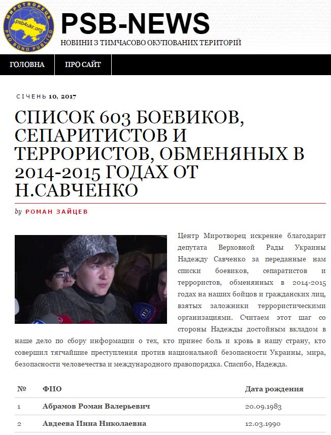 депутат Савченко Надежда без надежды