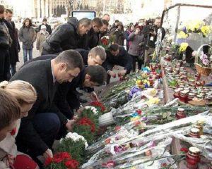 мер Віталій Клічко на Алеї Небесної Сотні Київ