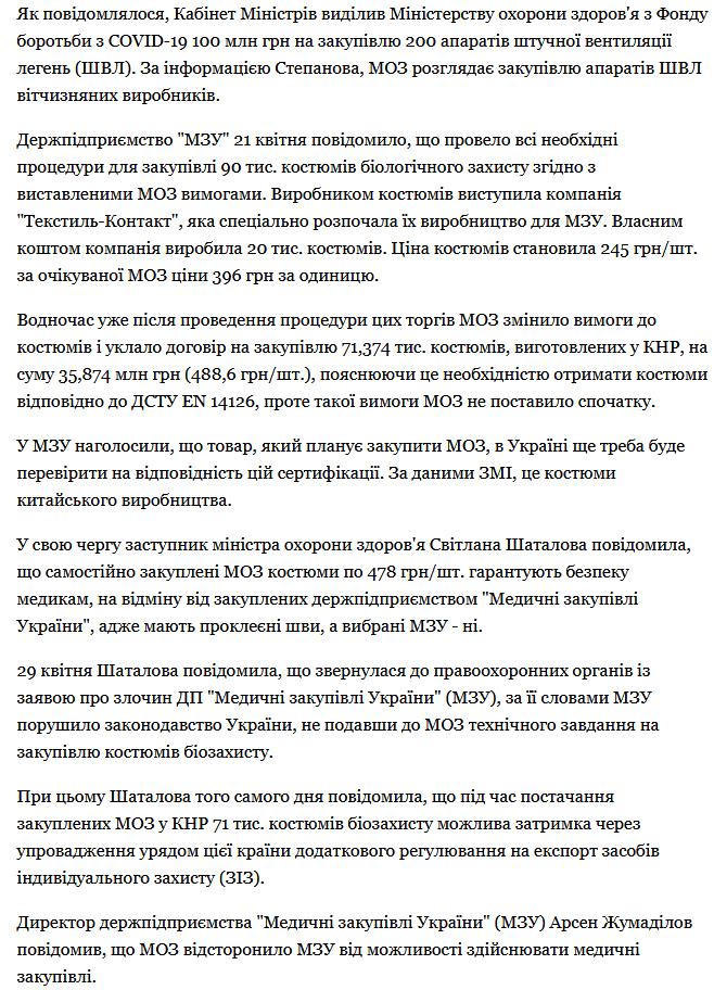МОЗ Соколовський Олександр Текстиль Контакт шахрайство 1
